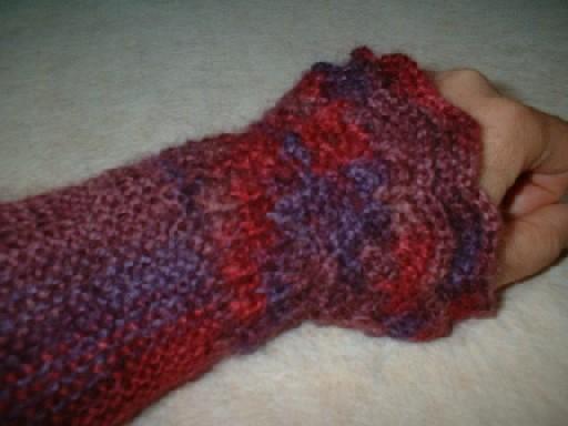 着物用!手編みのアームウォーマー